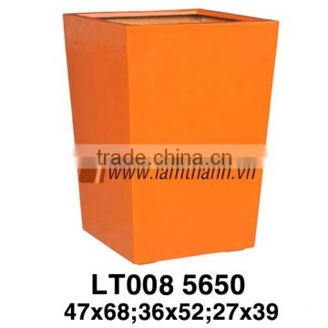 Vietnam Producer Antique Commercial Orange Modern Poly Glossy Planter