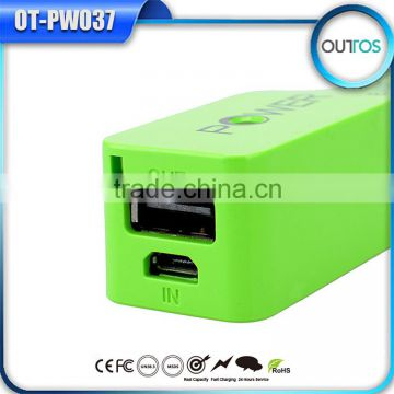 Promotion Gift Twitch Perfume China Power Bank Charger Potable 2200mah