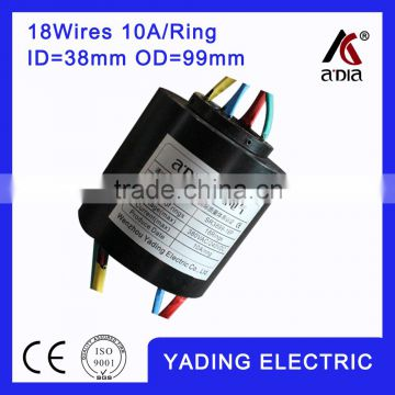 SRH 3899 Through bore slip ring 18wires 10A/per ring