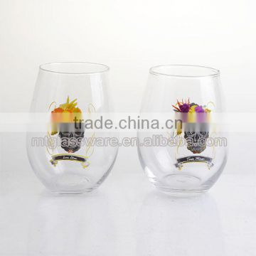 Halloween pretty Skull Stemless Wine Glass Cup for drinking