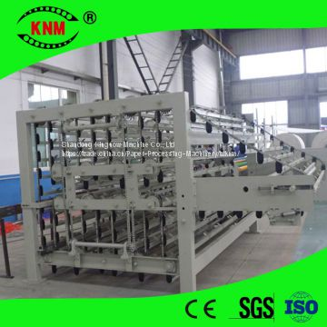 Automatic toilet paper log accumulator for toilet paper production line