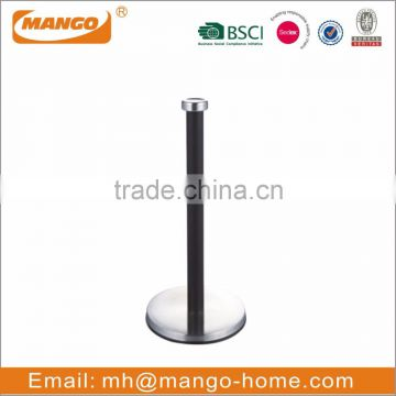Standing stainless steel kitchen paper towel holder