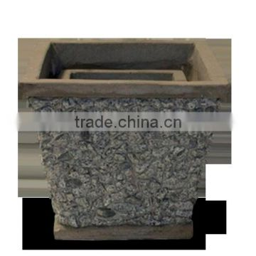 Viet-nam-concrete-planter/Square Slate Lightweight Cement Garden Planter