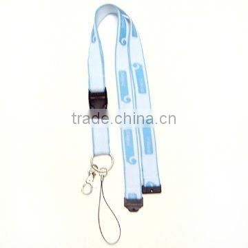 Reflected printing lanyard with plastic release buckle