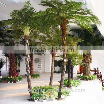 LXY080865 all kinds of plastic palm trees decorative artificial Sala palm tree for sale