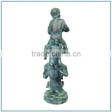 Swimming Pool Antique Life Size Bronze Children Fountain