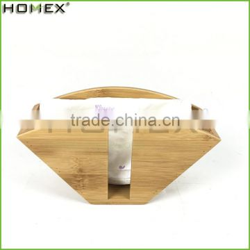 Bamboo Coffee Filter Paper Holder Napkin Holder Homex-BSCI Factory