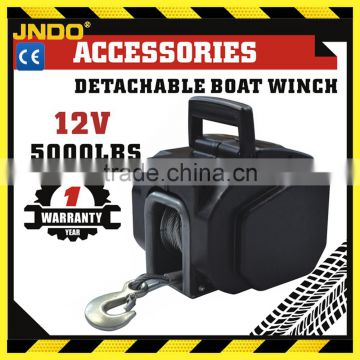 Heavy duty protable DC 12V/24V electric boat trailer winch 5000lb