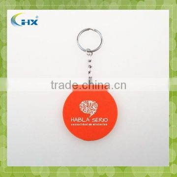 Promotional customized silicone keychain with printing logo