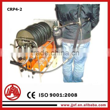 mobile positive pressure air respirator with 4 cylinders