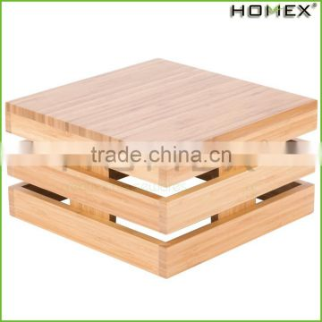 Bamboo Food Square Crate Riser Storage Bin Homex BSCI/Factory