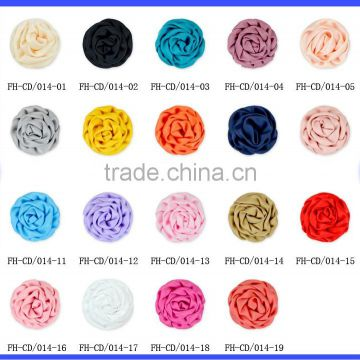 Wholesale Best Price 19 Colors Ribbow Rose Wedding Ornament Appliques Fake Flower