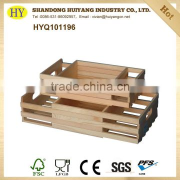 unfinished handmade wooden crate box wholesale