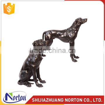 Antique life size bronze dog statue manufacturer for garden NTBA-D310A