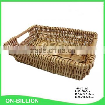 Wholesale chinese supplier natural material wicker basket display
