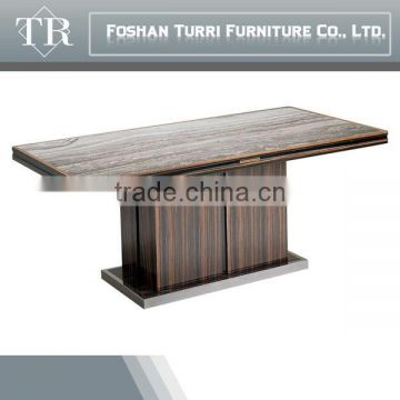 modern marble travertine top hardware base coffee table