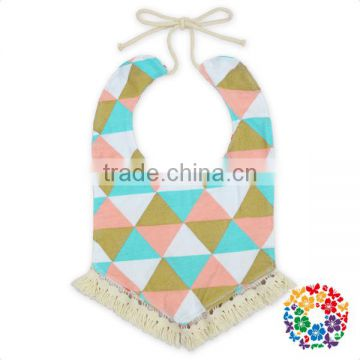 Hot Sales New Design 100% Cotton Lovely Baby Bandana Drool Bibs