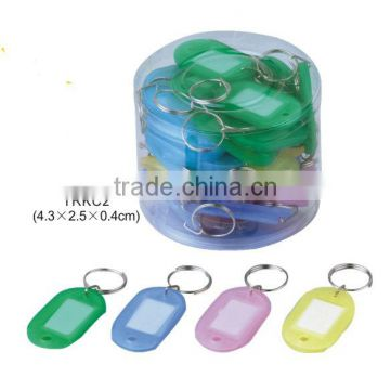 Plastic Luggage ID Card Name Tag Label Clip Keyring