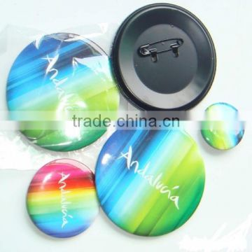 High quality round cheap custom metal button pin badge for promotional gifts and souvenir