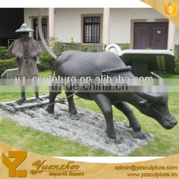 Bronze Modern Art Cow Sculpture CLBSN-C018A
