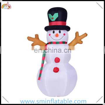 Giant inflatable snowman, christmas decor snowman with hat, lawn yard decor for outdoor event