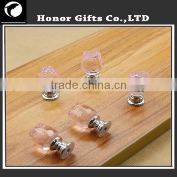 Diamond Shape Crystal Glass Pull Handle Cupboard Cabinet Drawer Door Furniture Knobs