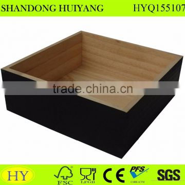 outside black painted wood serving tray