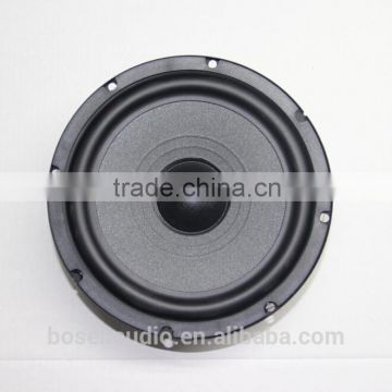 6.5 inch component music car speaker with 25mm ASV transparent silk dome tweeter