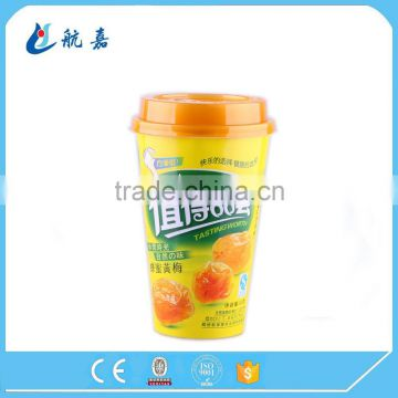 Custom logo printed waxed milk tea/coffee cold drink paper cup