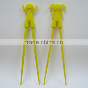 2013 hot selling silicon chopstick with sleeve for little boys/girls