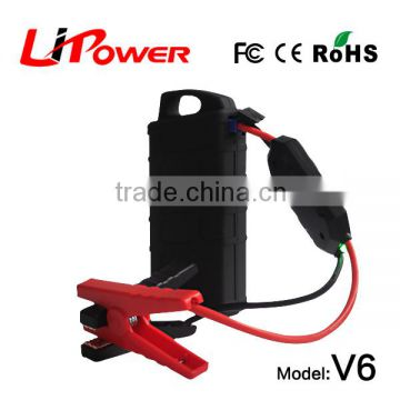 high capacity 12000mAh 12v lithium ion battery jump starter car emergency kit with battery cable