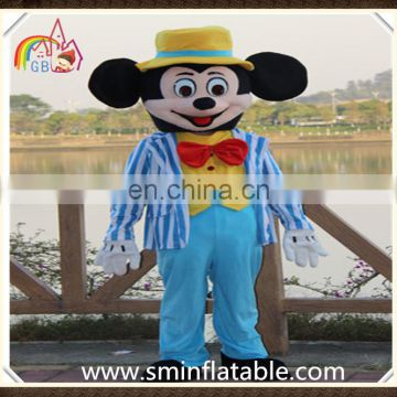 Lovely mickey mascot costume, plush figure mickey with suit cosplay costume