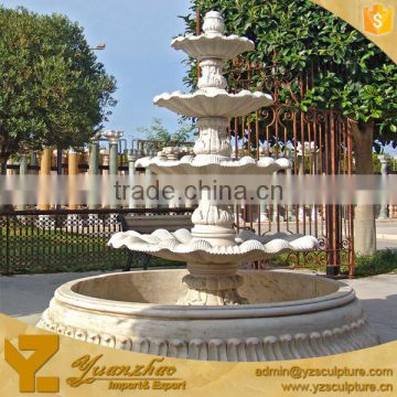 New design white marble outdoor water fountain