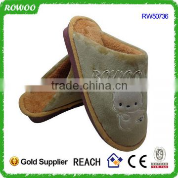 Coral fleece very warm men Slippers Cotton winter slippers
