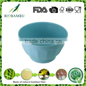 Biodegradable Quality assurance bamboo fiber round dinnerware bowl sets
