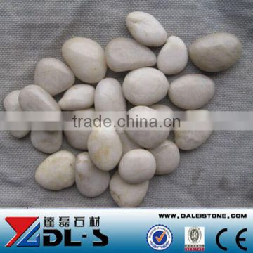 Natural yellow Cobble Pebble Stone High polished super grade luxary decorative stone, Landscaping