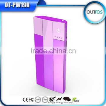 3.7V 10000mah portable charger external battery with led torch