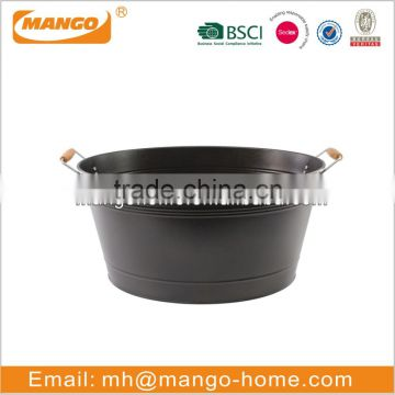 Large black modern ice bucket