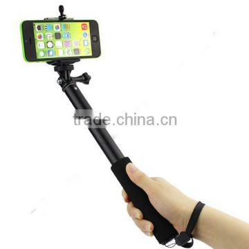 wirless Self-lock Extendable Monopod + Tripod Mount Adapter + Phone Clip Holder for GoPro Camera for iPhone Samsung Phone