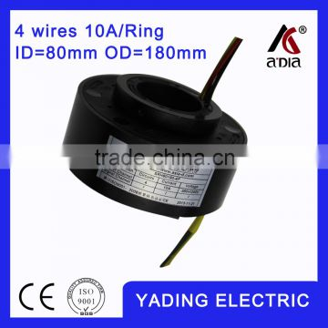 SRH80180 4P slip ring cable reel ID 80mm. OD180mm. 4Wires, 10A 4 wires