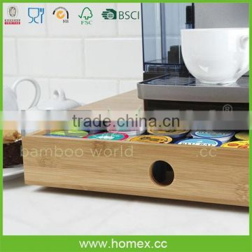Salable Bamboo Coffee Pod Caddy/ HOMEX - FSC,BSCI