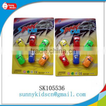 Plastic pull back toy promotional toy cars