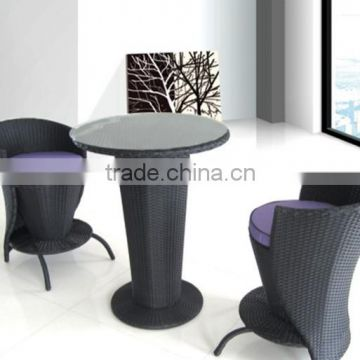 fashion wicker bar high table and chairs set