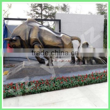 outdoor large metal bull sculpture for decoration hot sale
