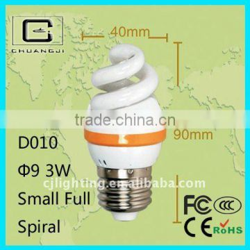 2014 new 3w full spiral energy saving lamps
