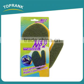 Household Kitchen Labor Protection Dish Washing Scouring Pad Cleaning Glove Latex Sponge Glove