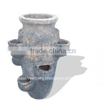 Vietnam Old stone outdoor planter, outdoor pottery