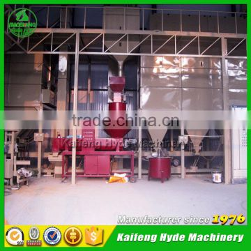 Non GMO white maize seed cleaning plant with seed coating machine
