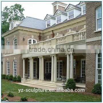 China factory garden decoration White natural stone marble column