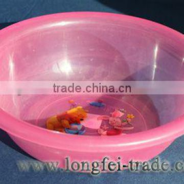 Household pink round plastic wash basin